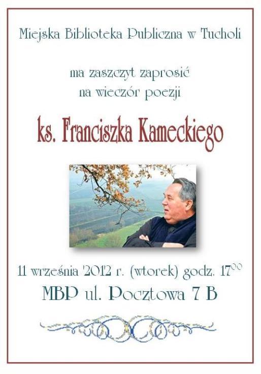 zaproszenie ks. Kamecki