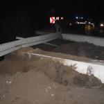 słupy na drodze Tuchola 12.2012 2