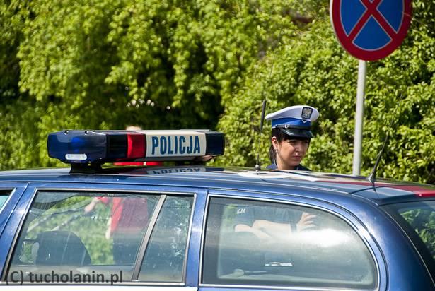 Policja samochód