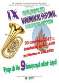 Ogólnopolski Festiwal Orkiestr Dętych Bysławek 2013 plakat