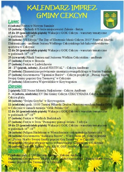 Imprezy letnie gmina Cekcyn lato 2013