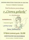 O cisową gałązkę 6.07.2013 plakat