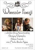 Wieczór poezji Romantowska TOK Tuchola 9.9.2013 plakat