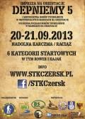 Depneimy 5 I Mistrzostwa Borów Tucholskich w Indywidualnych Marszach na Orientację  2013 plakat