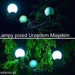 Lampy przed Urzędem Miejskim Tuchola 12.2013-2