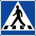 przejscie dla pieszych znak
