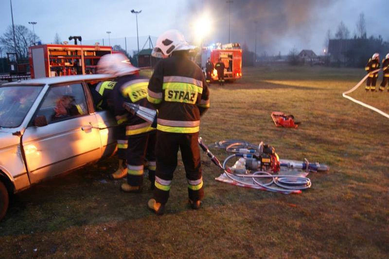 WOŚP Śliwice pokaz ratownictwa drogowego OSP Śliwice 11.01.2014 1