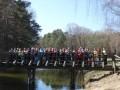 Na moście nad Wielkim Kanałem Brdy.JPG 'W poszukiwaniu wiosny' Norcic Walking Legbąd  29.03.2014