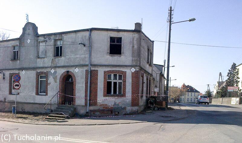 Pożar Tuchola ul. Główna Lipowa 9.03.2014-1