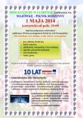 Majówka DK Lubiewo 1.05.2014 plakat
