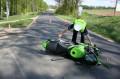 Plaskosz, citroen uderzył w motocykl 1.05.2014