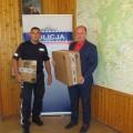 Komputer dla KPP Tuchola od gminy Kęsowo 22.08.2014 (fot. KPP Tuchola)