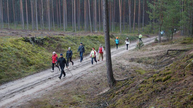 Otwarcie ścieżki nordic walking Śliwice 22.11.2014 1