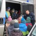 Zerówka SP 1 Tuchola w komendzie KPP Tuchola 5.02.2015 (fot. KPP Tuchola) 1