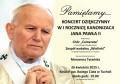Koncert dziękczynny w I rocznicę kanonizacji Jana Pawła II chór Camerata 26.04.2015 kościół Bożego Ciała plakat