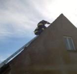 Zabezpieczenie dachu po wichurze ul. Sępoleńska Gostycyn OSP Gostycyn (fot. OSP Gostycyn) 3