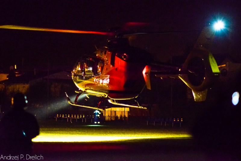 Ćwiczenia OSP Cekcyn nocne lądowanie medicopter 8.04.2016-4