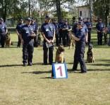 XVI Finału Kynologicznych Mistrzostw Policji KPP Tuchla I miejsce drużynowo w kategoriii psów patrolowo-tropiących 5.09.2016 6