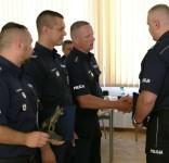 komendant wojewódzki gratuluje zwycięstwa w Kynologicznych Mistrzostwach Policji 16.09.2016 (fot. policja) 3