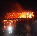 Pożare stodoły Trutnowo 27.11.2016 fot. OSP Lubiewo 1
