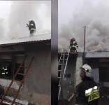 Pożar w Zielonce 1.12.2016 fot. OSP Zielonka 2