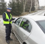 Dzień odblasków z tucholską policją fot. KPP Tuchola 2
