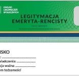 Nowa legiytymacja emeryta-rencisty ZUS 1