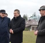 wojewoda Mikołaj Bogdanowicz w Śliwicach - odbiór remontu dróg powiatowych 10.03.2017 fot. UG Śliwice 2
