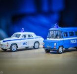 Stare zabawki modele samochodów milicji MO-1