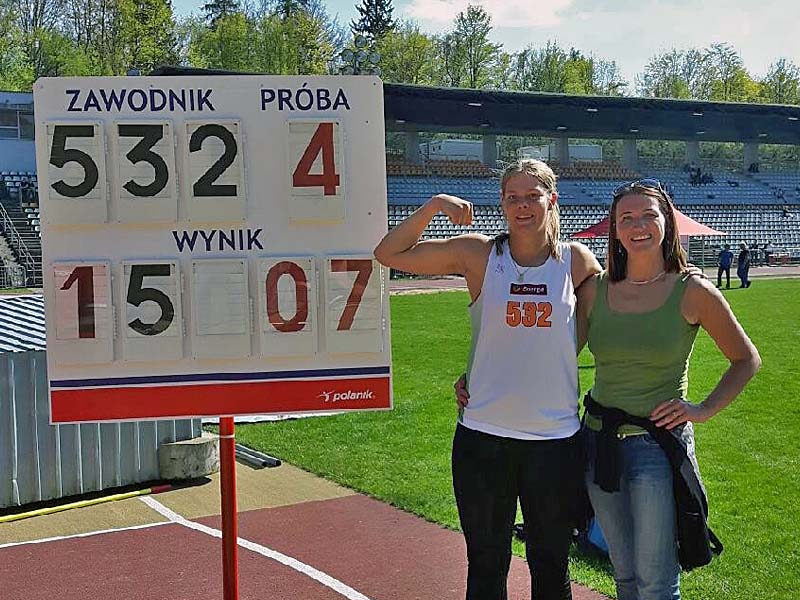 Karolina Urban minimum na Mistrzostwa Europy Juniorów 05.2017