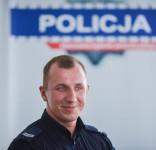 Bartosz Wiese oficer prasowy KPP Tuchola-3