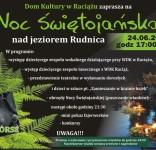 Noc Świętojańska jezioro Rudnica Raciąż 24.06.2017 plakat