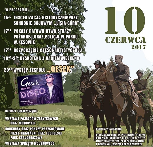 Piknik hisotryczny Kęsowo 10.06.2017 plakat