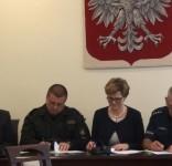 Powstanie klasa policyjno-pożarnicza w LO Tuchola podpisanie porozumienia 14.06.2017