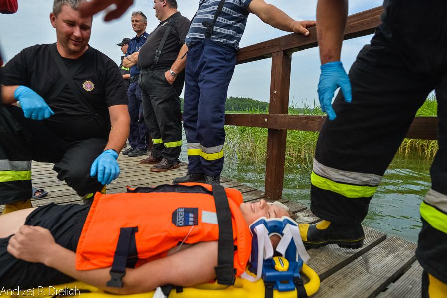 Ćwiczenia ratownictwa wodnego Bysław 20.07.2017-21