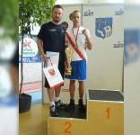 Maciej Kotlęga srebro na Ogólnopolskiej Olimpiadzie Młodzieży Półtusk 07.2017 (fot. Boxing Team Chojnice) 1