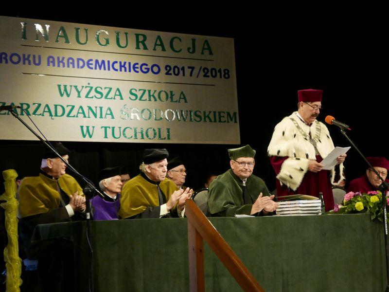 INAUGURACJA ROKU AKADEMICKIEGO W WSZŚ W TUCHOLI 10.2017 fot. Starostwo Tuchola 6