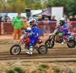 Tosia na zawodach V Rundy Mistrzostw Okręgu Łódzkiego PZM w Cross Country MX Mini 4