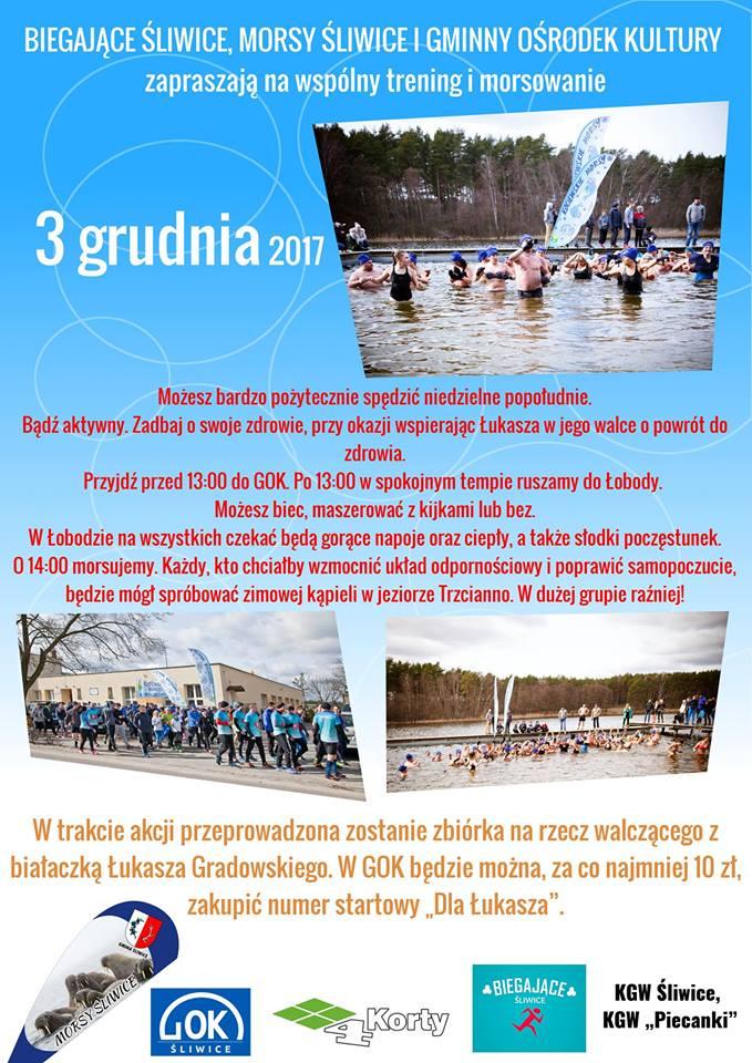 Wspólny trening i morsowanie dla Łukasza śliwice 3.12.2017