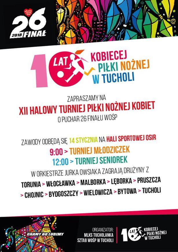 WOŚP Tuchola 2018 plakat 1
