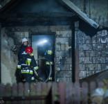 Pożar budynek mieszkalny Kamionka gm. Śliwice 3.05.2018-21