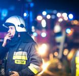 Pożar budynek mieszkalny Kamionka gm. Śliwice 3.05.2018-22
