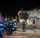 Pożar budynek mieszkalny Kamionka gm. Śliwice 3.05.2018-9