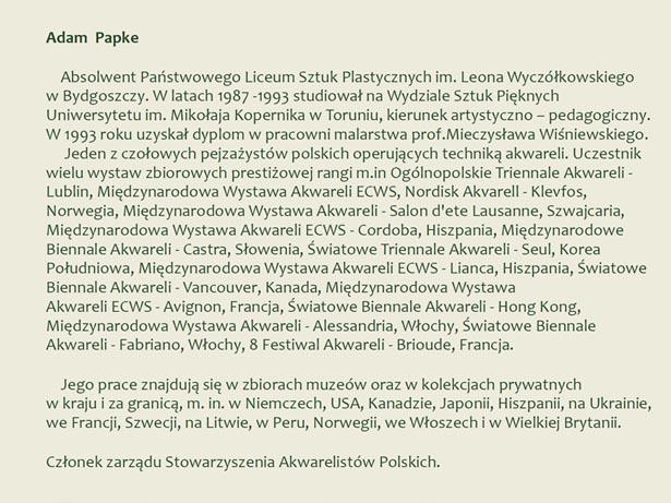 Sylwetka - Adam Papke