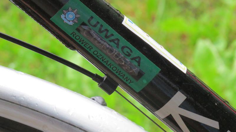 Rower znakowany fot. KPP Tuchola