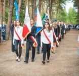 Uroczystość Pomnik Pomordowanych Tuchola Rudzki Most 2.09.2018 fot. Andrzej Drelich-16