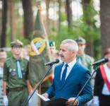 Uroczystość Pomnik Pomordowanych Tuchola Rudzki Most 2.09.2018 fot. Andrzej Drelich-23