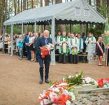 Uroczystość Pomnik Pomordowanych Tuchola Rudzki Most 2.09.2018 fot. Andrzej Drelich-39