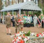 Uroczystość Pomnik Pomordowanych Tuchola Rudzki Most 2.09.2018 fot. Andrzej Drelich-56