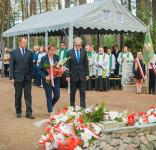 Uroczystość Pomnik Pomordowanych Tuchola Rudzki Most 2.09.2018 fot. Andrzej Drelich-58